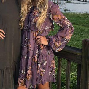 Womens purple floral dress